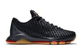 "Nike KD 8 EXT ""Black Gold Woven"""