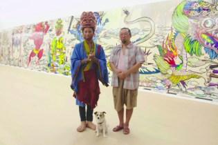 Pharrell Visits Takashi Murakami's Studio