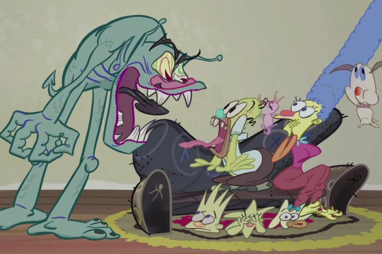 'Ren & Stimpy' Creator John Kricfalusi Animates 'The Simpsons' Treehouse of Horror Couch Gag