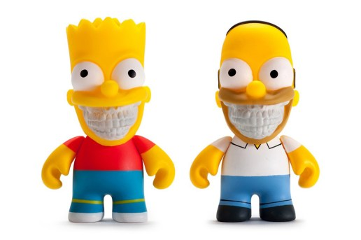 "Ron English x Kidrobot Bart & Homer Simpson ""Grin"" Figures"