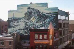 Shepard Fairey Paints 'The Jersey Wave' Mural