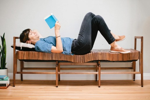 This Wooden Bench Bends to Your Weight