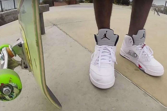 Supreme x Jordan 5s Get Destroyed in Skate Session