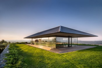 The Observation House Sits Atop an Elevated Meadow for Panoramic Views