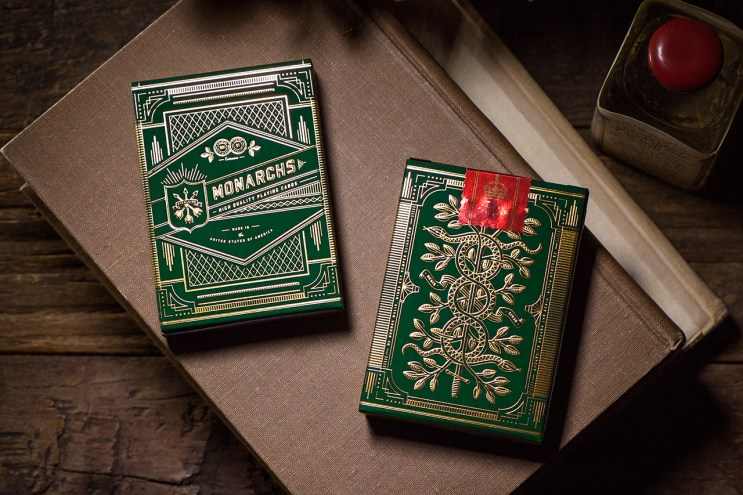 Theory11 Monarch Green Edition Playing Cards
