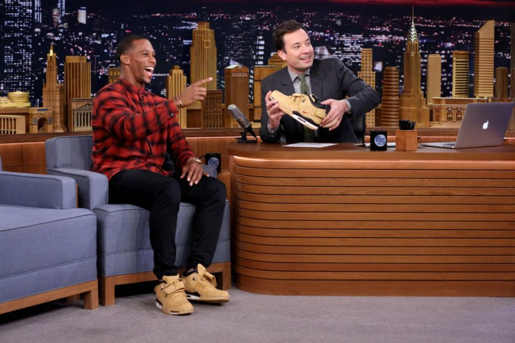 Victor Cruz Debuts Signature Nike Sneaker on 'The Tonight Show Starring Jimmy Fallon'