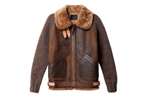 wings+horns Shearling Aviator Jacket