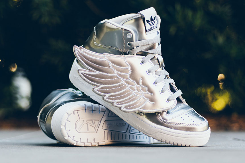"adidas Originals by Jeremy Scott JS Wings ""Metallic Silver"""