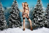 Agent Provocateur 2015 Holiday Lookbook Featuring Abbey Clancy