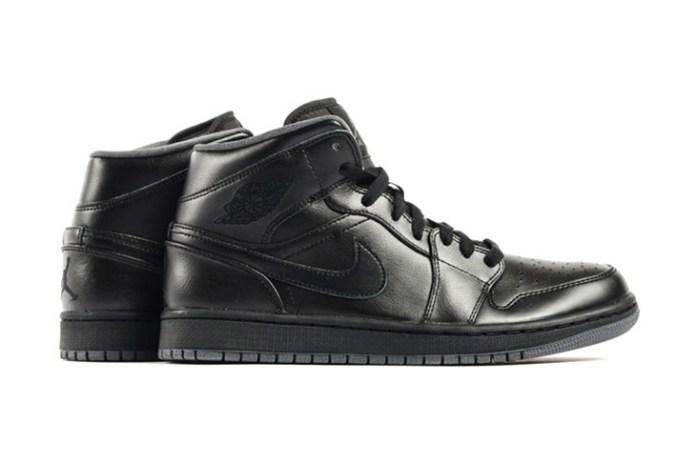 Air Jordan 1 Mid Black/Dark Grey