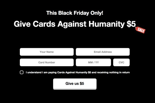 What Cards Against Humanity Is Doing With Its Black Friday Profits