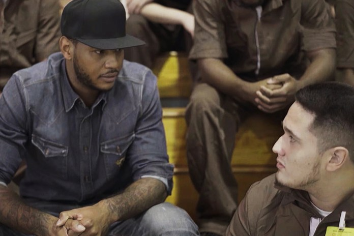Carmelo Anthony Visits the Infamous Rikers Island to Inspire Troubled Youth