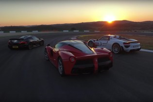 Chris Harris Races the LaFerrari, Porsche 918 and McLaren P1 at Portimao