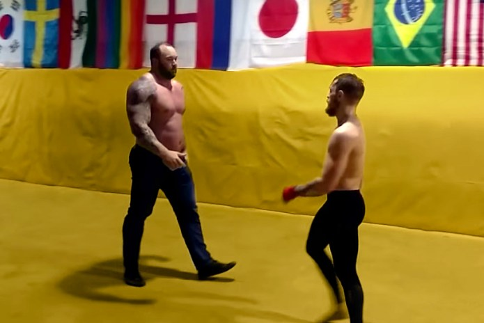 "Watch UFC Fighter Conor McGregor Spar With ""The Mountain"" From 'Game of Thrones'"