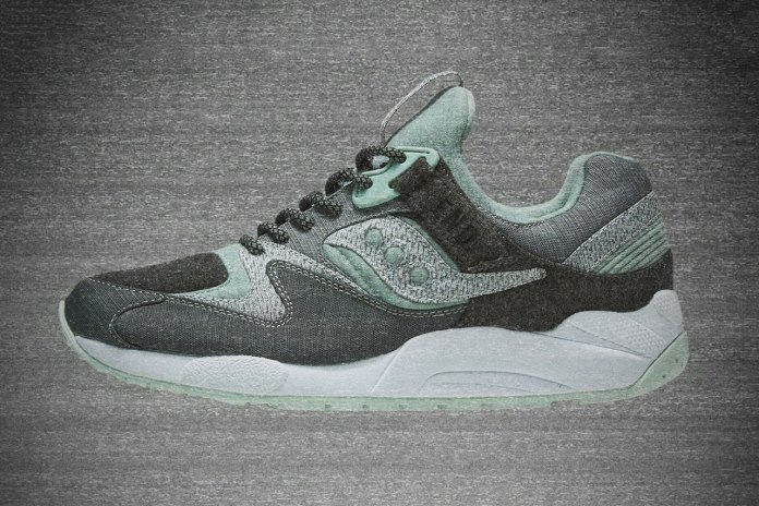 "END. x Saucony Grid 9000 ""WHITE/NOISE"""