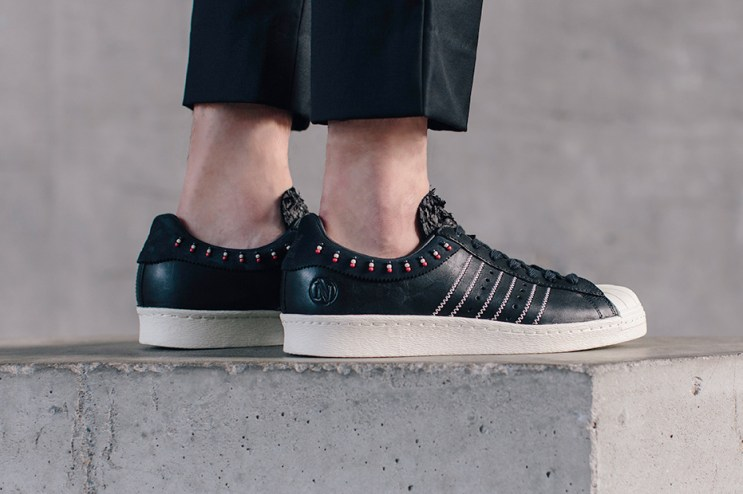 "INVINCIBLE x adidas Consortium Superstar 80v ""Black"""