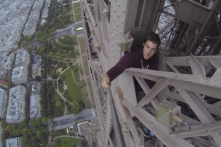 James Kingston Films His Daring Free-Climb of the Eiffel Tower