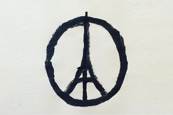 Jean Jullien's Sketch Has Become the Symbol of Solidarity for the Paris Attacks