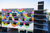 Jen Stark Completes a Psychedelic Mural in Culver City