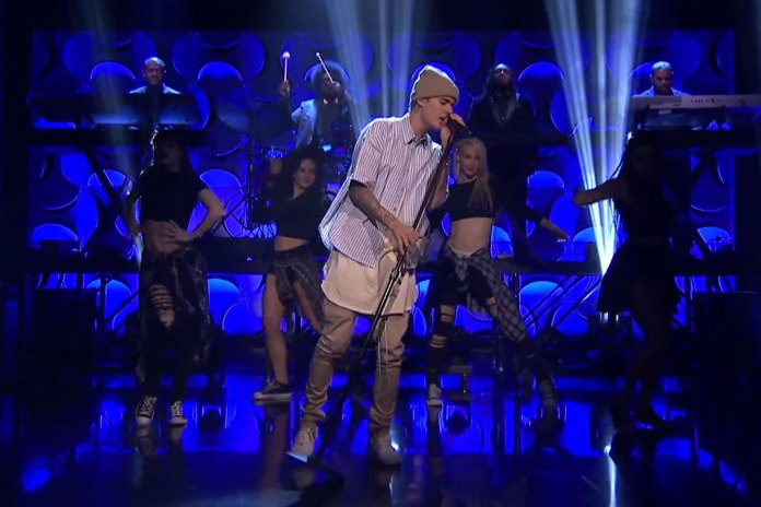 """Justin Bieber Performs """"Sorry"""" on 'The Tonight Show Starring Jimmy Fallon'"""