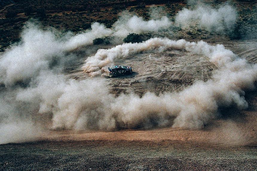 Ken Block Drifts Through the Utah Desert