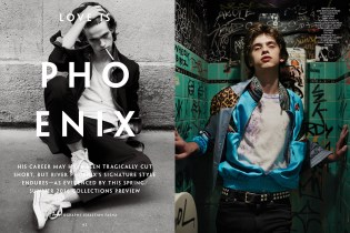 Love Rönnlund Channels River Phoenix in 'CR Men's Book'