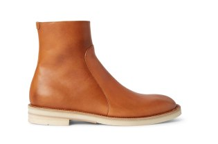 Maison Margiela Brushed-Leather Chelsea Boot