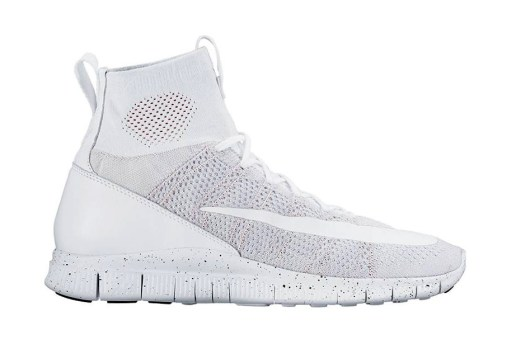 "Nike Free Flyknit Mercurial Superfly ""All White"""