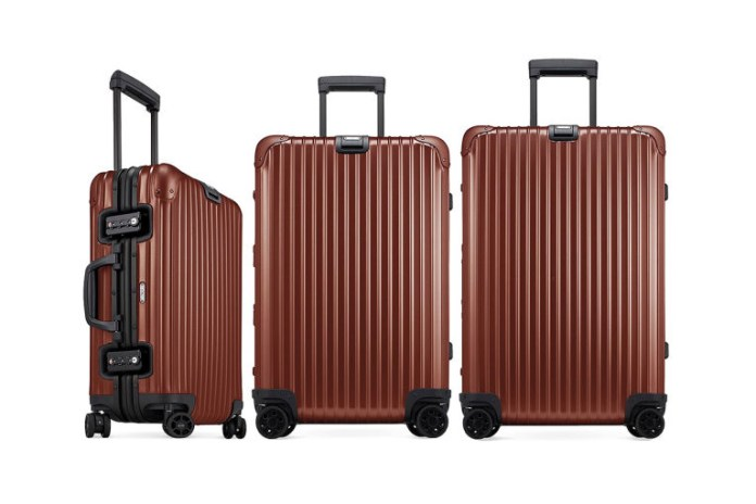 """Rimowa Topas Aluminum Suitcase """"Copper"""" Is the Newest and Most Eye-Catching Yet"""
