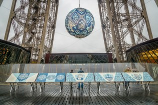 Shepard Fairey Addresses the Global Environmental Crisis With New Eiffel Tower Installation