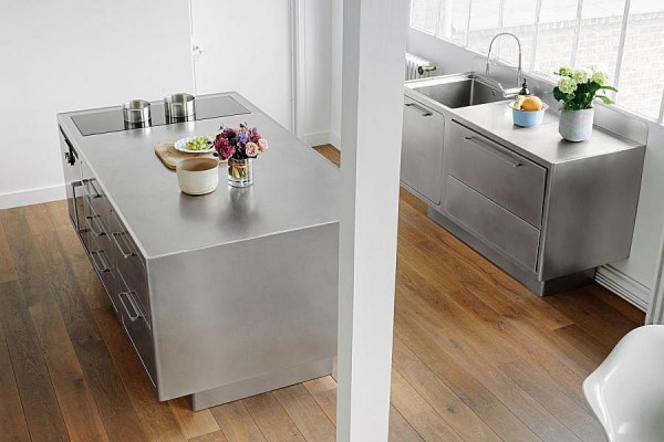 Stunning All-Stainless Steel Kitchen