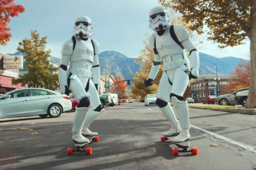 Watch Two Stormtroopers Tear Through the City on Electric Longboards