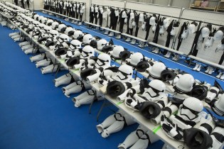 Take a Look Inside the Stormtrooper Dressing Room of 'Star Wars: The Force Awakens'