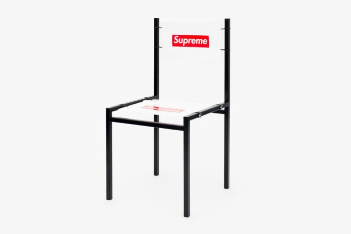 An Artist Made a Chair out of a Supreme Shopping Bag