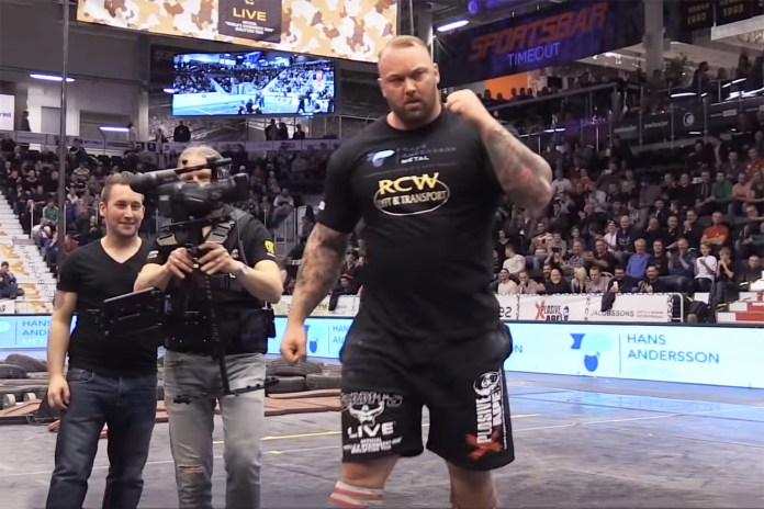Watch The Mountain From 'Game of Thrones' Break the World Keg Toss Record