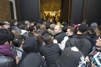 "Take a Look at the Organized Chaos Surrounding the Yeezy Boost 350 ""Moonrock"" Launch"