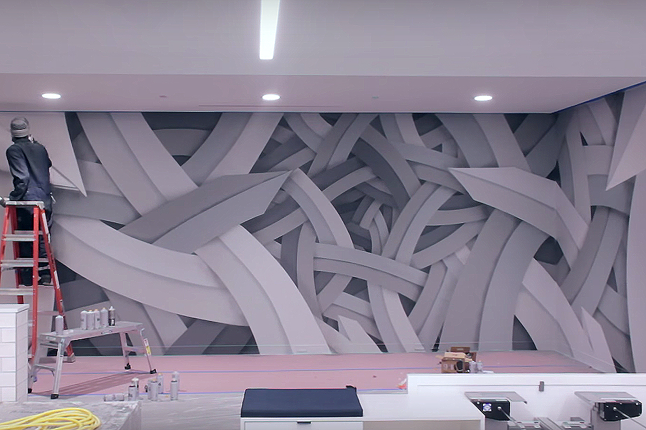 Apex Paints a Complex Mural in San Francisco Office