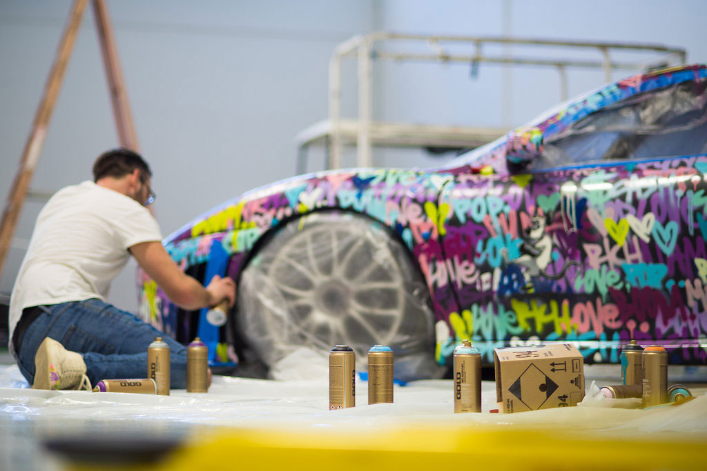 Ben Levy Customizes a Ferrari F430 Race Car for Art Basel Miami