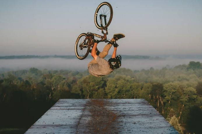 Pro Mountain Biker Brett Rheeder Heads Home