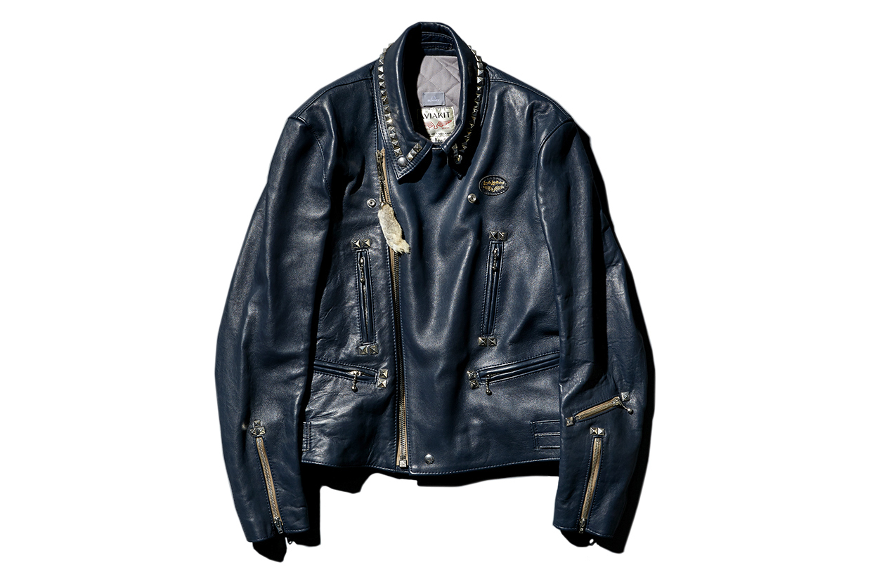 """Bunney Collaborates with Lewis Leathers for 2015 Fall/Winter """"Lightning"""" Leather Jacket."""
