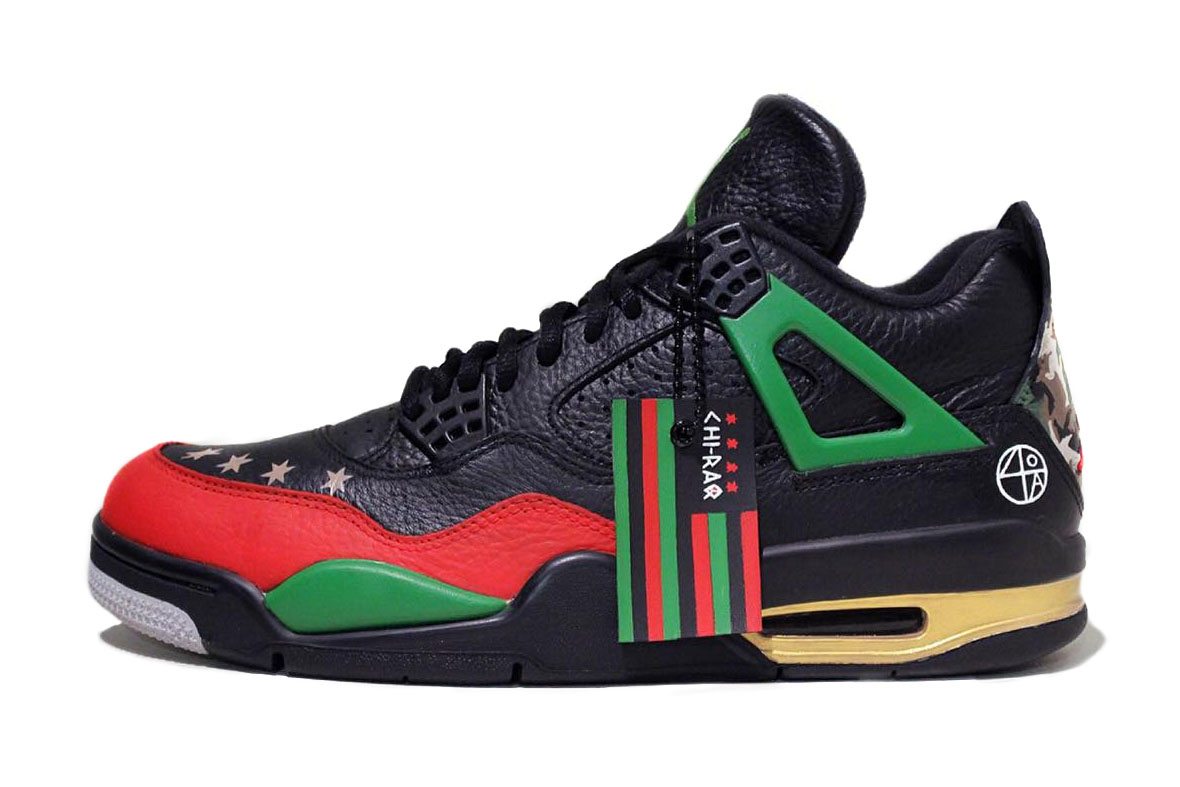 "Artist Creates Custom ""Chi-Raq"" Air Jordan IVs for Spike Lee"