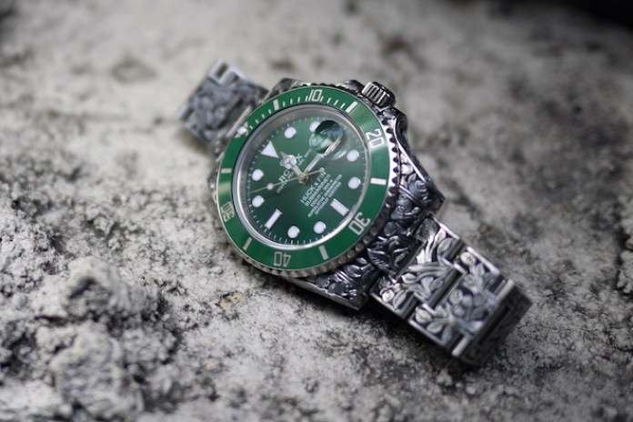 Fin Des Temps x Huckleberry LTD Custom Rolex Green Dial Submariner