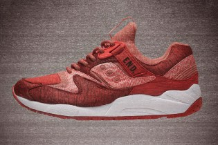 "END. x Saucony 9000 ""RED/NOISE"""
