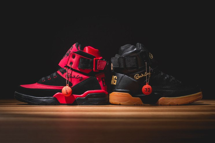 "Ewing 33 Hi ""Black/Gum"" and ""Red/Black"""