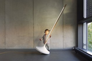 A Child's Spinning Toy Inspired the Design for This Unique Floor Lamp