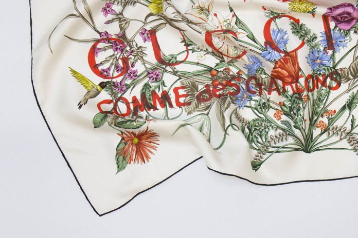 Gucci & COMME des GARÇONS Unveil Capsule Collection of Silk Scarves