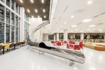 This Korean University Library Uses a Two-Storey Slide to Attract Students to Study