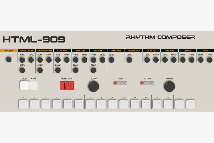 Play a Roland TR-909 Drum Machine in Your Browser