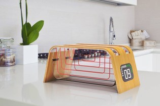 Designer James Stumpf Creates a Toaster out of Glass and Bamboo