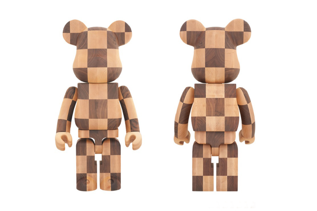 Karimoku x Medicom Toy Limited Edition Wooden 1000% Bearbrick